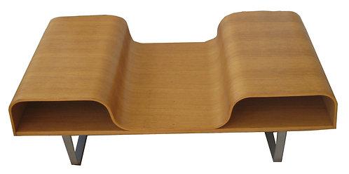 Postmoderne sofabord af eg fra Ikea