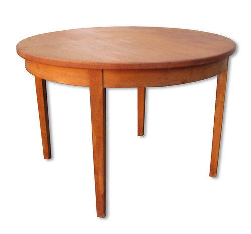 Rundt udtræksbord af teak