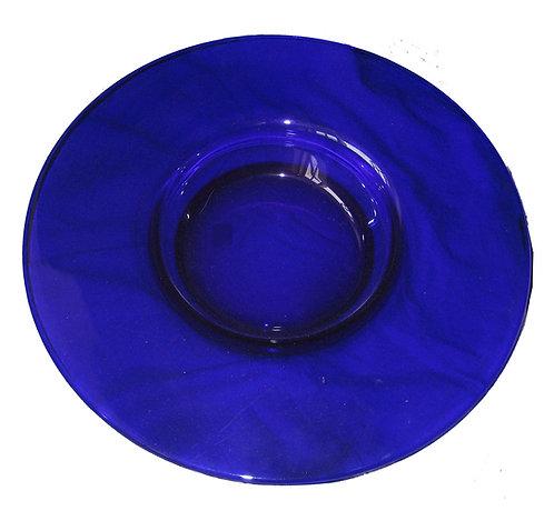 Koboltblåt glasfad