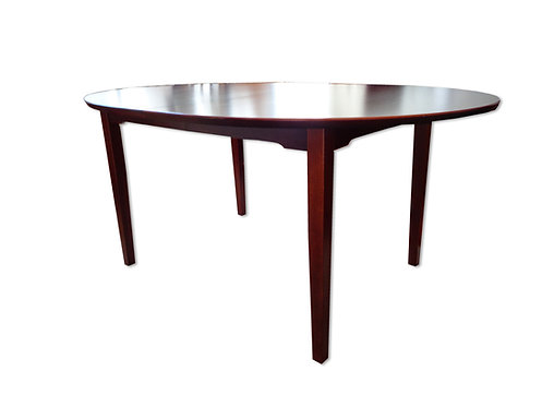 Ovalt spisebord af mahogni