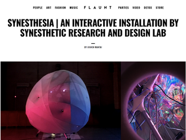 Synesthesia featured at Flaunt Magazine