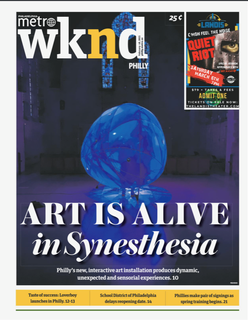 Synesthesia at the Metro newspaper Cover