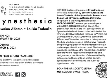 Synesthesia at HotBed Gallery, Philadelphia, PA