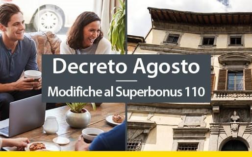 Le modifiche al SuperBonus 110% previste dal DL agosto