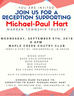 Reception to Support Michael Paul Hart