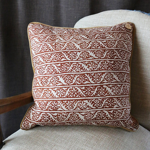 Rust Ivy Cushion - Square