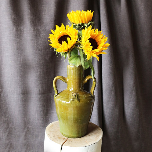 Green Stoneware Glazed Vase