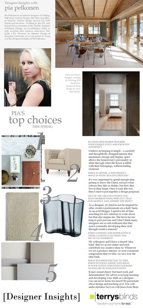 DESIGNER INSIGHTS WITH TERRY'S BLINDS