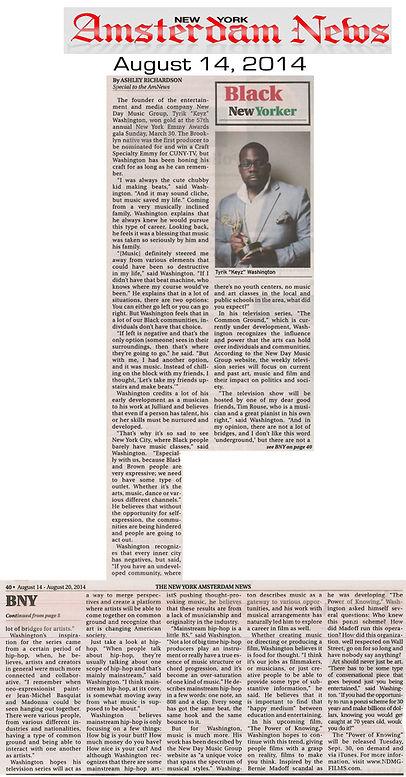 Tyrik Washington awarded Black New Yorker by The Amsterdam News