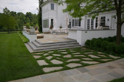 Flagstone with Grass Joints