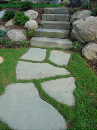 Bluestone Steps with Flagstone