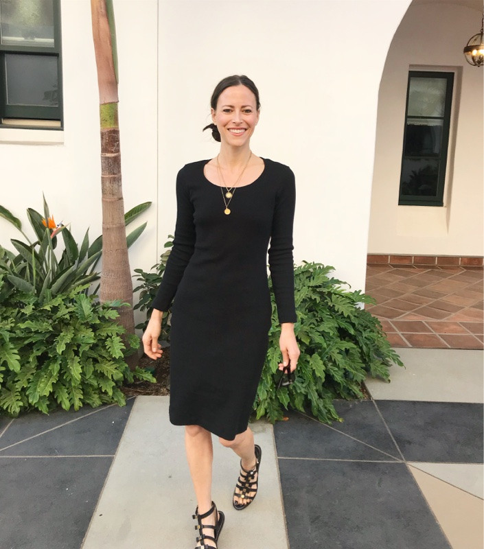 black-dress-ethical clothing- zero waste-Tonle-California-3