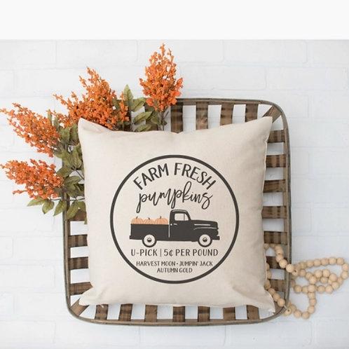 Pumpkin Truck Pillow