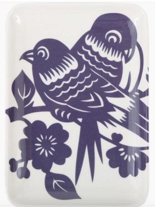 Aviary Love Birds Soap Dish/Tray