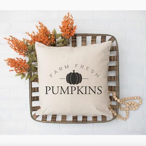 Farm Fresh Pumpkins Pillow