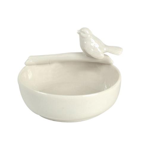 Round Ceramic Bowl w/ Bird