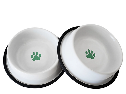 Non Skid Bowl With Paw Design