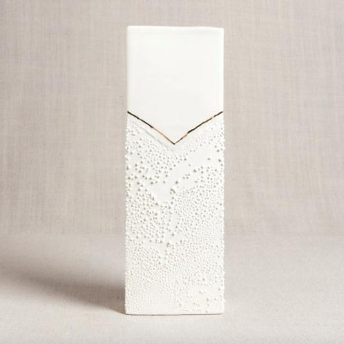 Rectangle Vase with Textured Glaze