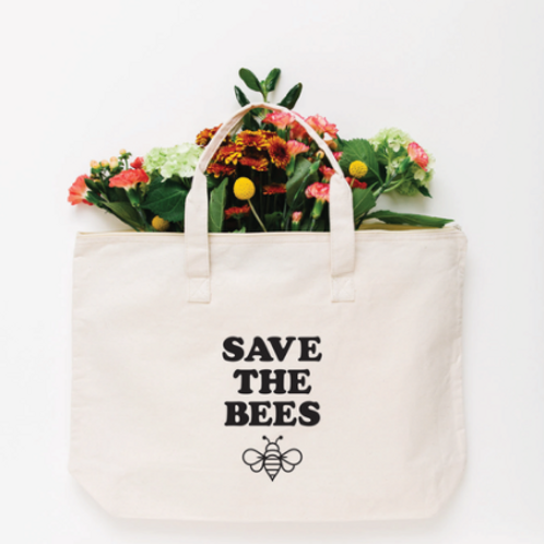 Save the Bees Tote Bag - Large