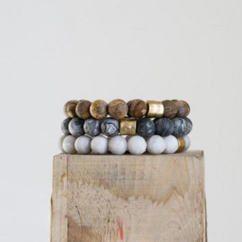 Stone Bracelets set of 3