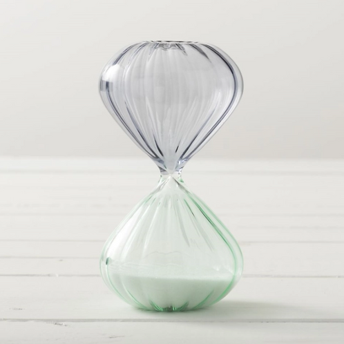 Hourglass Mint & Gray Timer