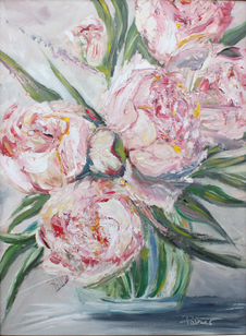 Perfect Peonies in a Glass Vase