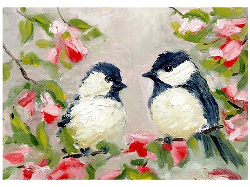 5x7 Love Birds <3