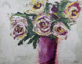 Purple_Roses_12X16_Michelle_Palmer_Abstr