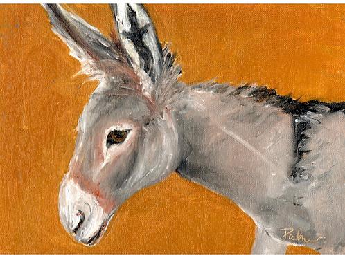 9x12 Jerusalem Donkey No 1