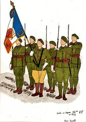 Garde au drapeau 164 - Dessin R pennerat