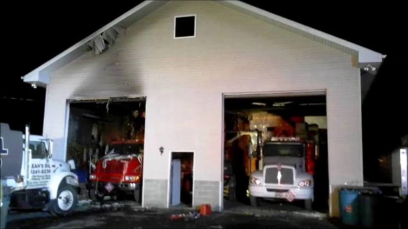 11/10/14 - Garage Fire on Suscon Rd.