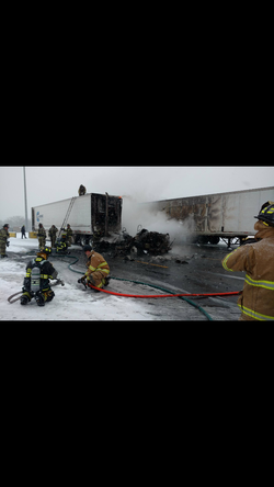1/23/16 - Tractor Trailer Fire