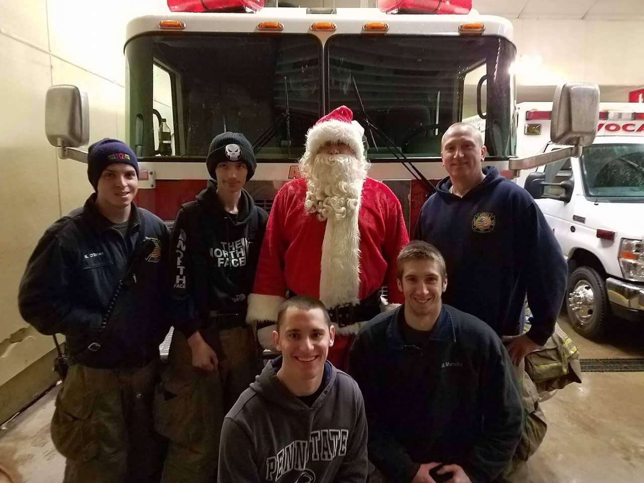 12/8/16 - Engine Crew and Santa