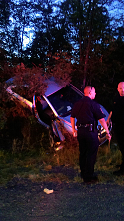 9/7/16 - Car into Tree Incident