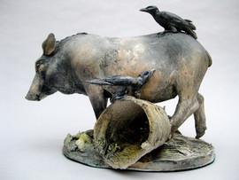 pig and crows - raku