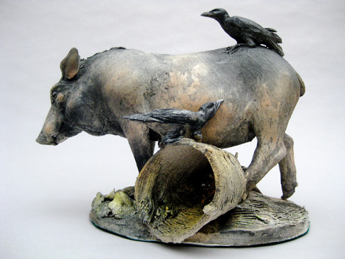 Pig and Crows