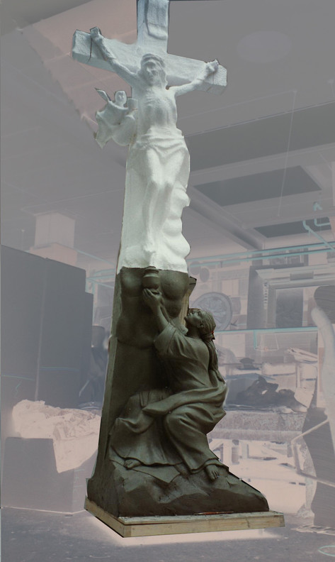 18' tall representation of The Crucifiction