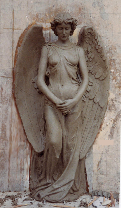 Two angels were cast from this to stand either side of the entrance to a brothel - film work.