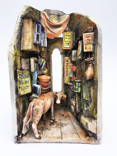 Cow in a Street Shop