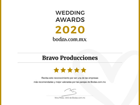WEDDING AWARDS 2020 by Bodas.com.mx