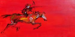 רוכבת על סוס