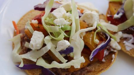 Easy Gluten Free Summer Meal: Vege + Pinto Tostadas