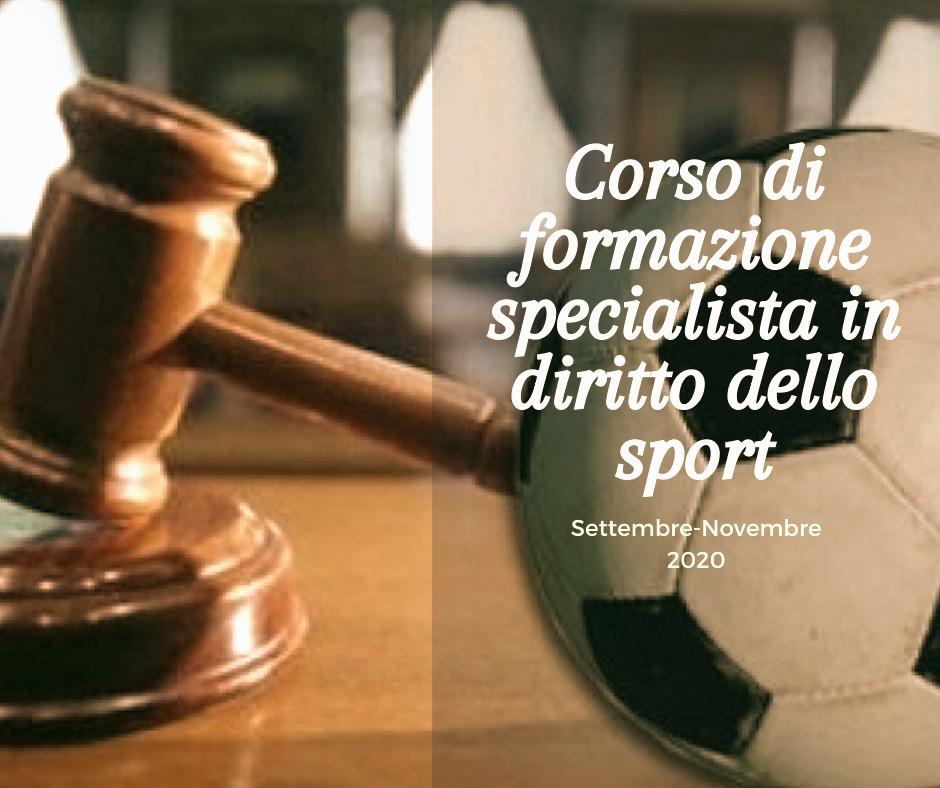 Corso di formazione specialista in diritto dello sport