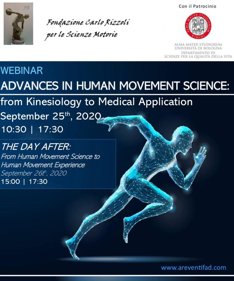 Webinar: Advances in Human Movemen Science