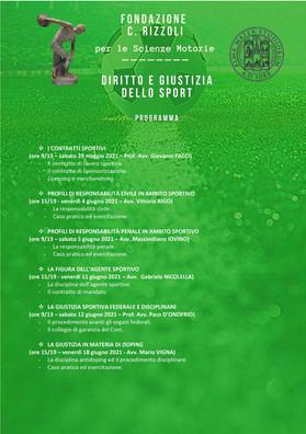 Programma del corso diritto e giustizia dello sport