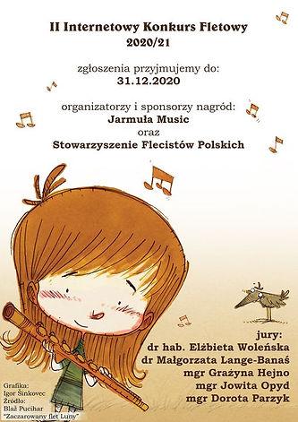 II Internetowy Konkurs Fletowy_poster.jp