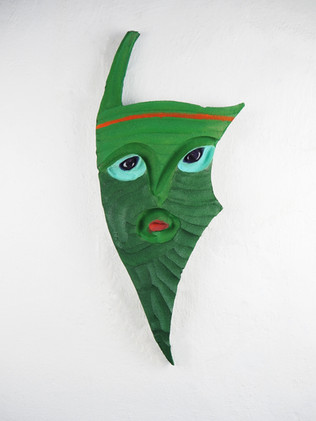 Green mask, 2020