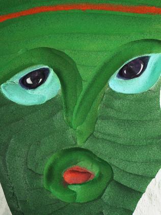 Green mask (fragment), 2020