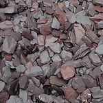 grey and plum slate chipping