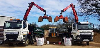 albany aggregates desborough ltd trucks lorries grab lorrys loading shovel bulk bags